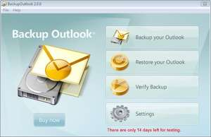 Backup Outlook Screenshot