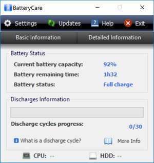 BatteryCare Screenshot
