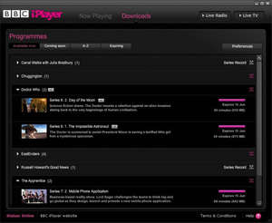 BBC iPlayer Downloads Screenshot