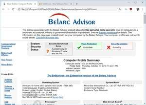 Computer Utilities - Screenshot for Belarc Advisor
