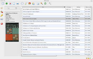 Cataloging Software - Screenshot for BiblioteQ