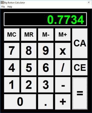 Big Button Calculator Screenshot