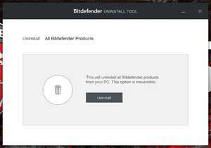 Bitdefender Uninstall Tool Screenshot
