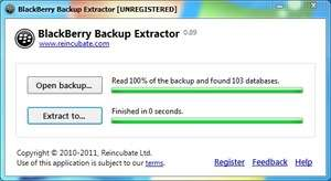 BlackBerry Backup Extractor Screenshot