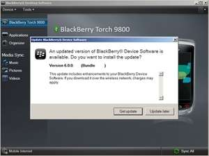 BlackBerry Device Updater Screenshot