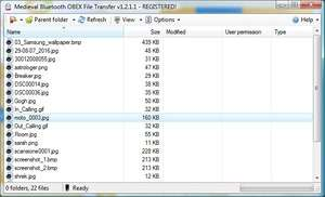 Bluetooth File Transfer (PC) Screenshot