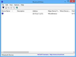 Bluetooth Programs - Screenshot for BluetoothView