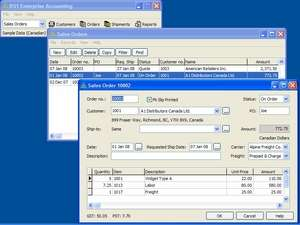 BS1 Enterprise Accounting Screenshot