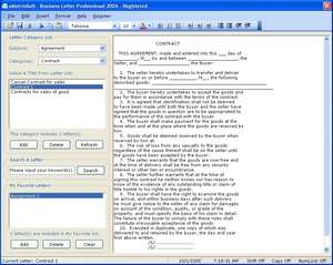 Business Letter Professional 2009 Screenshot