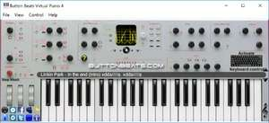 Musical Instrument Software - Screenshot for ButtonBeats Virtual Piano