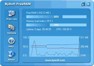 Memory Tweaks - Screenshot for BySoft FreeRAM