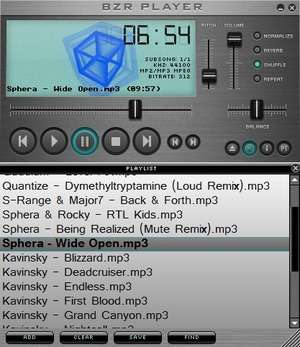 MP3 Players - Screenshot for BZR Player
