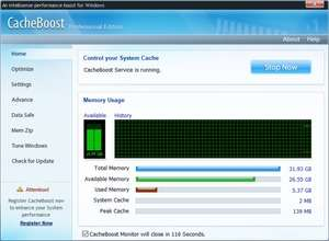 CacheBoost Professional Screenshot