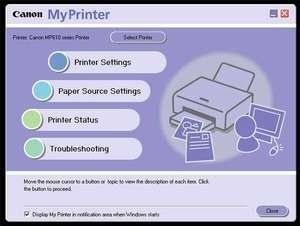Canon My Printer Screenshot