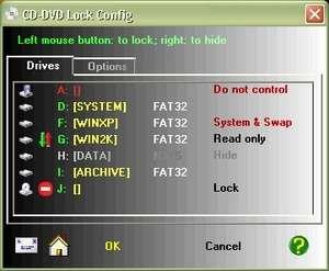 CD-DVD Lock Screenshot