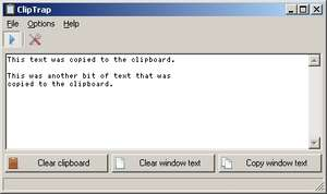 Clipboard Replacement Programs - Screenshot for ClipTrap
