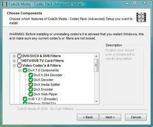Video Codecs - Screenshot for Codec Pack (Advanced)