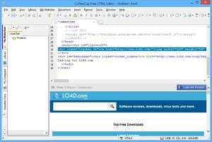 HTML Editors - Screenshot for CoffeeCup Free HTML Editor