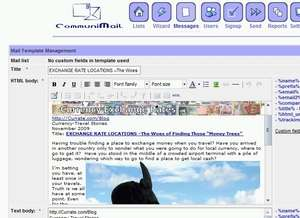 CommuniMail Newsletter Script Screenshot