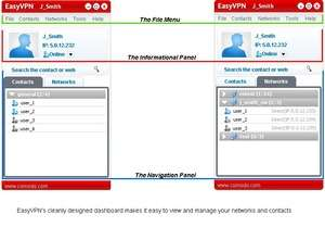 Network Programs - Screenshot for Comodo EasyVPN