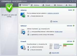 Firewalls - Screenshot for Comodo Internet Security Premium