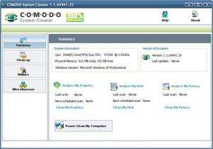 Comodo System Cleaner Screenshot