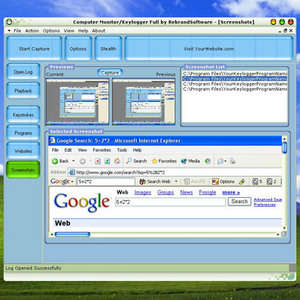 Computer Monitor Keylogger Screenshot