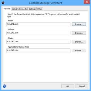 Playstation 3 - Screenshot for Content Manager Assistant