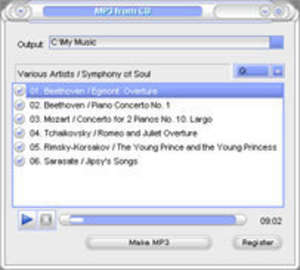 CopyAudioCD Screenshot