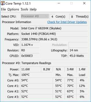 Hardware Diagnostics - Screenshot for Core Temp