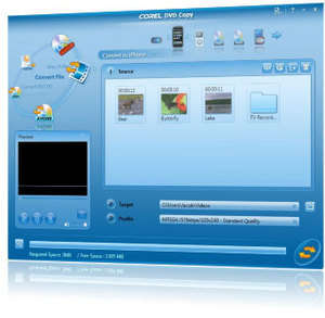 Corel DVD Copy Screenshot