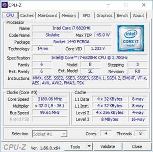 Hardware Diagnostics - Screenshot for CPU-Z