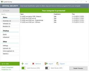 Spyware Removal - Screenshot for Crystal Security
