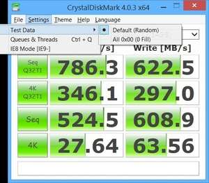 CrystalDiskMark Portable Screenshot