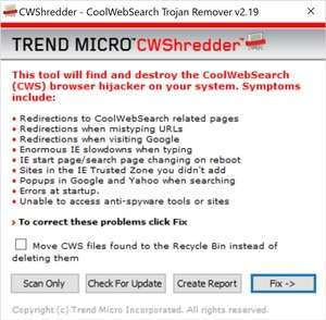 Spyware Removal - Screenshot for CWShredder