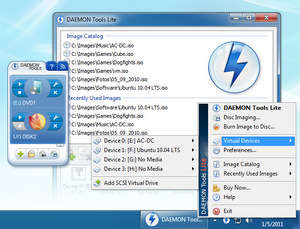 CD and DVD Utilities - Screenshot for Daemon Tools Lite