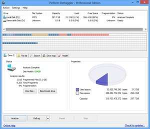 Hard Disk Defragmenters - Screenshot for Defraggler