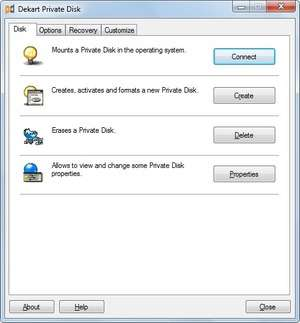 Dekart Private Disk Screenshot
