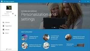 Dell Help & Support Screenshot