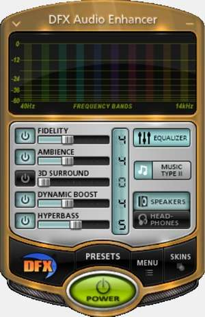 Additional Components - Screenshot for DFX Audio Enhancer
