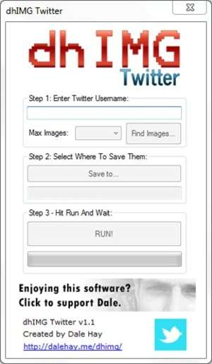 Download Managers - Screenshot for dhIMG Twitter