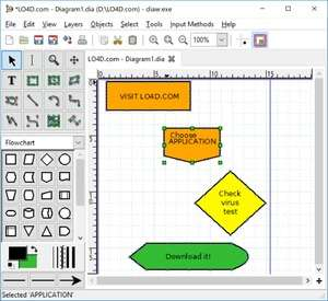 Dia Diagram Editor Screenshot