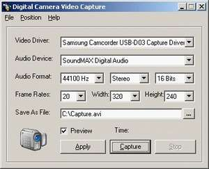 Digital Video Recorder Screenshot