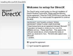DirectX End-User Runtime Web Installer Screenshot