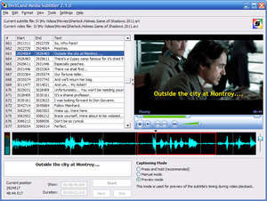 Audio Video Editing - Screenshot for DivXLand Media Subtitler