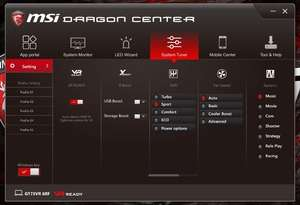 Dragon Center Screenshot