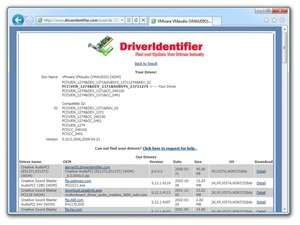 Drivers - Screenshot for Driver Identifier