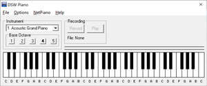 Musical Instrument Software - Screenshot for DSW Piano