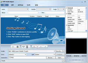 DVD Audio Ripper Screenshot