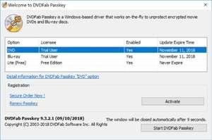 DVDFab Passkey Lite Screenshot